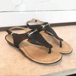 Geox Respira snakeskin sandals EU37
